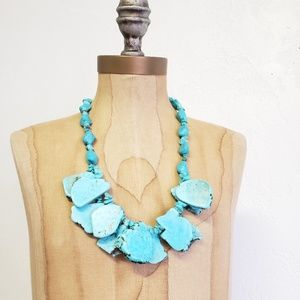 Jewelry - Chunky multilayered turquoise necklace